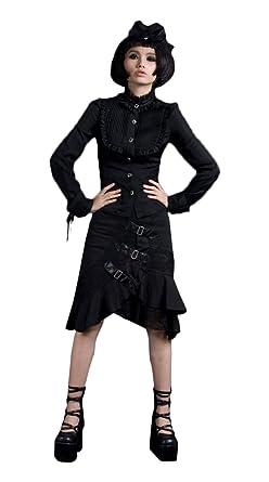 Black Punk Sweater Dresses