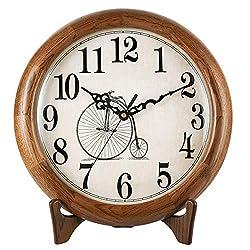 Mantle/Desk Clock Living Room Creative Desk Decoration Mute Clock Digital Clocks, 33.5×34cm