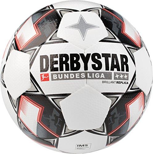 (Derbystar Bundesliga Replica Match Soccer Ball, Size 5, White)