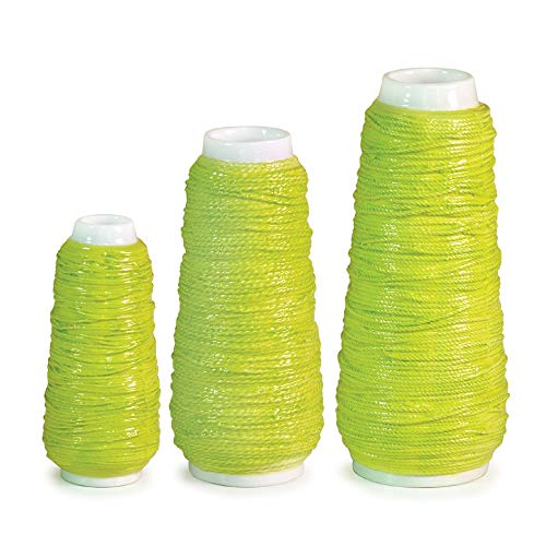 (Melrose Set of 3 Spring Serenity Bright Green Spool of Yarn Flower Vases 7