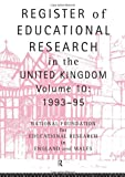 Register of Educational Research in the United Kingdom, 1992-1995, National Staff, 0415132436
