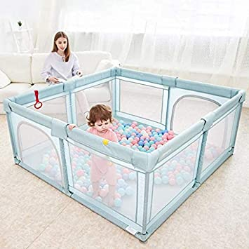 HAOT Baby playpen,Large Fence Gray Playpen Baby Playpen Childrens Playpen Toddler Playground Child Kids Game Fence Boys Girls Playpen Tall 70cm SIZE : 150x180x70cm