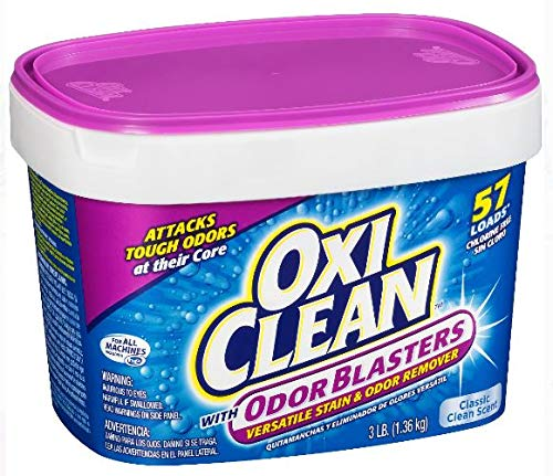Pack of 4 - OxiClean with Odor Blasters Versatile Stain & Odor Remover 3 lb Tub