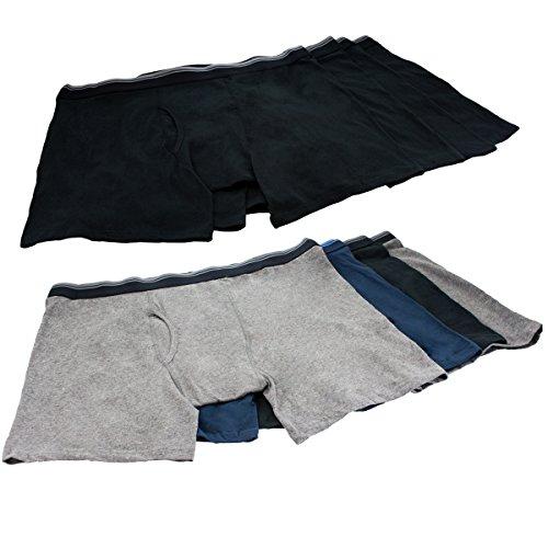 8 Men's Kirkland Signature XXL Boxer Briefs Black Gray Blue Stretch Cotton 44-46