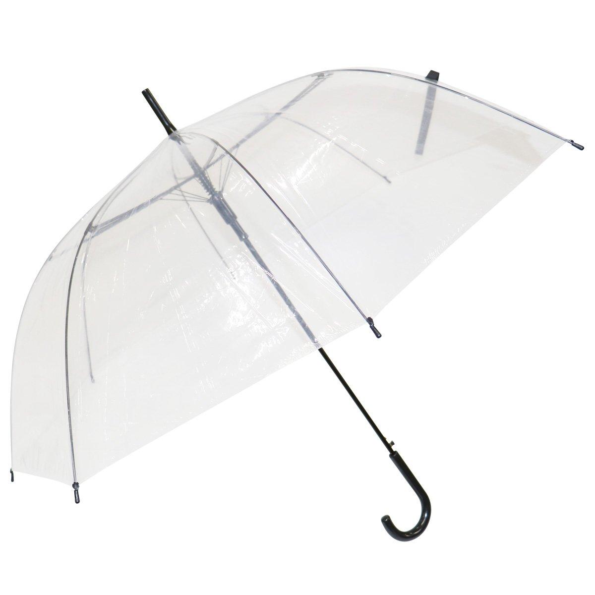 ビニール傘 透明 65cm 48本 送料無料 傘 かさ まとめ買い 業務用 激安 ブラック B07BB6G578