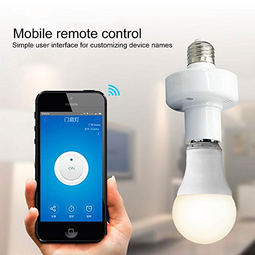 Leegoal Smart Light Socket, Wifi Bulb Socket E26 Intelligent Lamp Holder Plug, Works Alexa Google Home, Phone APP Remote Control Your Fixtures From Anywhere Timing Function by Leegoal (Image #1)