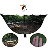 Cheap OUTDOOR SKY 11′ Hammock Bug Net Stops Mosquito – No See Ums & Repels Insects, Exclusive Polyester Mesh for 360° Protection Fits ALL Camping Hammocks – Lightweight, Fast Easy Setup – 130″ x 59″ (Black)