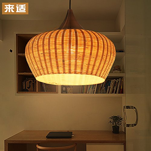 Bamboo lamps lamp shades the bamboo emporium quietness loft creative bamboo lamps southeast asian korean style garden bamboo lamps diameter 370mm320mm pendant lamp for kids bedroom dinning room mozeypictures Images