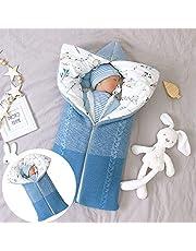 Isyunen Stroller Blanket Newborn Baby Swaddle Sack Knitted Crochet Hooded Baby Sleep Sack Boy or Girl Swaddle Wrap for 0-12 Months Baby Receiving Blankets,Sleeping Bag