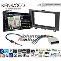 Volunteer Audio Kenwood DNX574S Double Din Radio Install Kit with GPS Navigation Apple CarPlay Android Auto Fits 2012-2016 Honda CR-V (Without factory amplified systems)