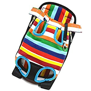 SRI Adjustable Puppy Cat Pet Carrier Backpack (Multicolour)