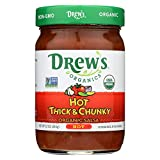 Drew's Organics Hot Thick and Chunky Salsa - 12 Oz. - Case of 6