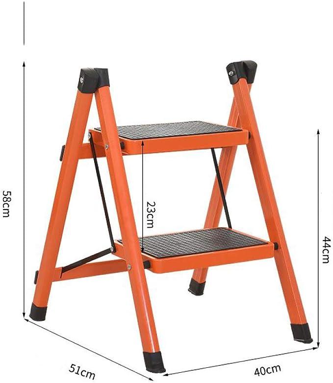 CLLCR Escalera, Escalera de Uso Doméstico, Escalera de Dos Pasos, Escalera de Dos Pasos, Escalera de Dos Pasos, Escalera para Niños, Estante para Escaleras,Naranja,Un tamaño: Amazon.es: Deportes y aire libre