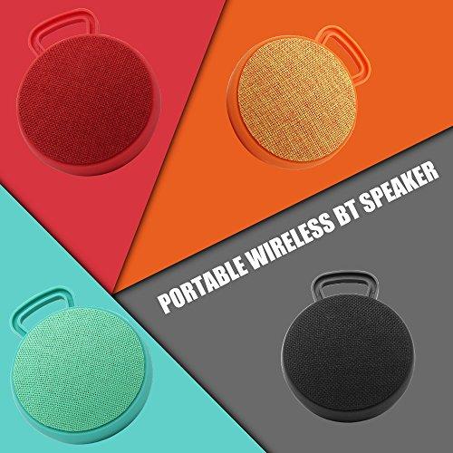 docooler Portátil Inalámbrico BT Altavoz Reproductor de Música Mini Caja de Música de Sonido Estéreo BT4.2 Soporte de Llamadas Manos Libres negro