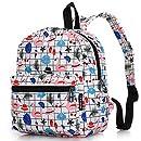 Lightweight Travel School Mini Backpack for Women Girls Boys Teens Kids Children (Beach White Small)