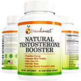 Testosterone Booster for Muscle Growth, Male Enhancement, Energy, Sex Drive, Hawthorn, Horny Goat Weed, Tribulus, Zinc, Minerals with Ashwagandha, Premium 100% Natural Herbal 60 Vegetable Capsules USA