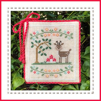 Cross Chart Welcome Stitch (Welcome to The Forest 2 - Forest Deer Cross Stitch Chart and Free Winter Embellishment)
