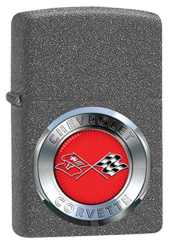 (Zippo Lighter: Chevrolet Corvette Insignia - Iron Stone 79608)