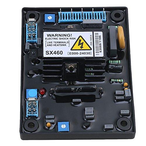 CNBTR Black Metal & ABS Adjustable AVR SX460 Automatic Voltage Regulator Control Module For Generator