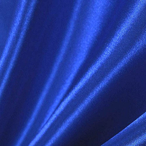 Royal Blue Satin Fabric 60'' Inch Wide – 50 Yards By Roll (FB) by Fabric Bravo