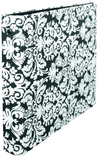 (Aurora GB 1/2-Inch Round Ring, 8 x 8 Inches Size, Brocade Print Cloth Photo Album (AUA12437))