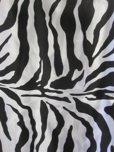 (Animal Print Satin Fabric - Zebra - 60