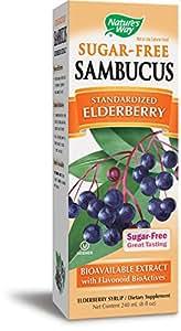 Nature's Way Sambucus Sugar-Free Syrup, 8 Ounce