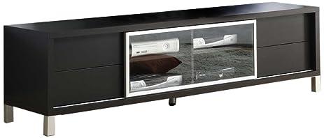 Monarch Specialties I 2530, TV Console, Euro Style, Cappuccino, 70u0026quot;