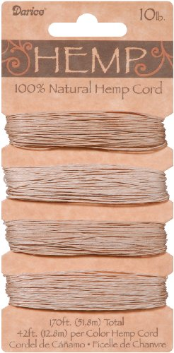 DARICE 1936-90 Hemp Cord Set, 10-Pound by 170-Feet, Assorted, Natural