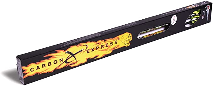 """3 Pack Carbon Express Mayhem DS Hunter Arrows PreCut Inserts Installed Fletched with 2/"""" Quadell Vanes"""