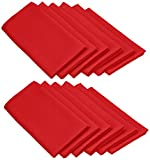 LinenTablecloth 20-Inch Polyester Napkins (1-Dozen) Red