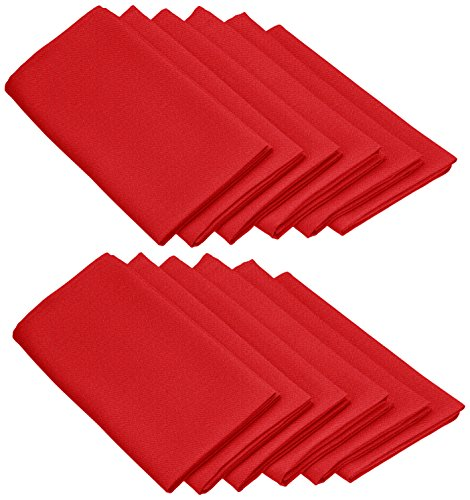 Large Product Image of LinenTablecloth 20-Inch Polyester Napkins (1-Dozen) Red