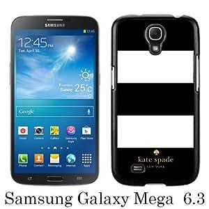 Kate Spade 7 Black Abstract Custom Design Samsung Galaxy Mega 6.3 i9200 i9205 Protective Phone Case