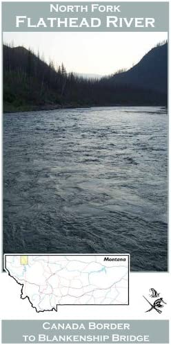 North Fork Flathead River 11x17 Fly Fishing Map