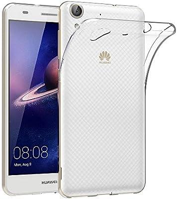 ELECTRÓNICA REY Funda Carcasa Gel Transparente para Huawei Y6 II / / Huawei Honor 5A, Ultra Fina 0,33mm, Silicona TPU de Alta Resistencia y ...