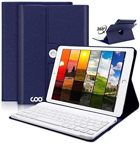 Coo s casos Teclado Bluetooth para iPad Mini 4 con Rotación de 360 grados y Multi-Angel Soporte