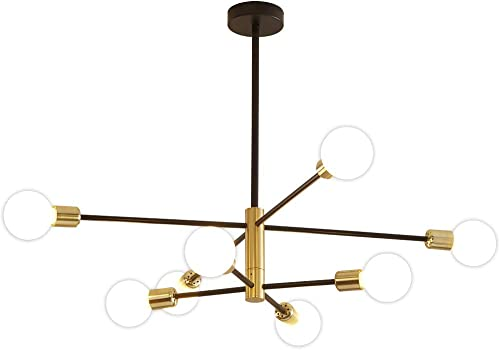 Sputnik Chandelier Mid Century Modern Nordic Light Fixtures LED Pendant Lighting Gold Chandeliers Ceiling Light Fixture Black Light