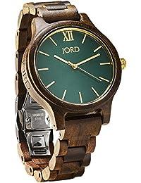 JORD Wooden Wrist Watches for Men or Women - Frankie Minimalist Series / Wood Watch Band / Wood Bezel / Analog...