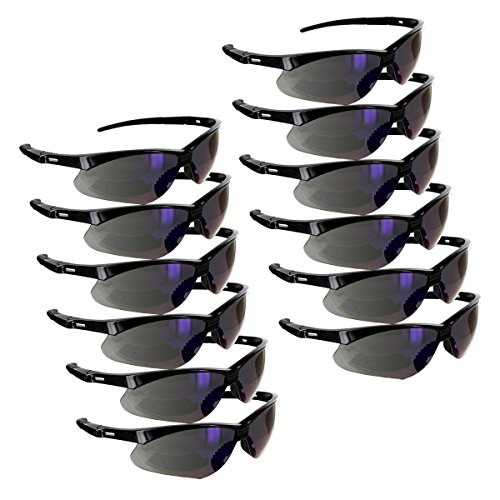 Rugged Blue Mojave Safety Glasses (Blue Mirror Case of 12) by Rugged Blue (Image #1)
