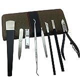 Spove Pedicure Sets Professional Pedicure Knife Kit Foot Care Callus Corn Cuticle Clipper Pusher Remover Travel Case