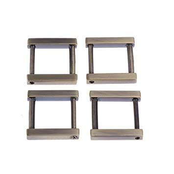 SUPVOX 4Pcs Metal Square Buckle Hardware Belt Buckle Parts for Bag