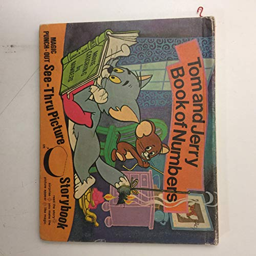 Tom and Jerry Book of Numbers Magic Punch-Out See-Thru Picture Storybook