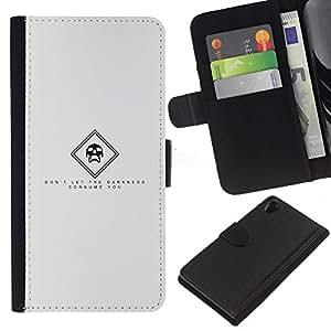 JackGot ( Oscuridad ) Sony Xperia Z2 D6502 la tarjeta de Crédito Slots PU Funda de cuero Monedero caso cubierta de piel
