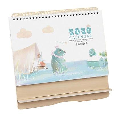 Calendario de escritorio 2019-2020, calendario de oficina, pequeño ...