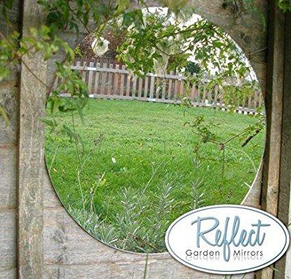 Reflect Acrylic Garden Mirror   Plain Sheets   Round 16u0026quot;
