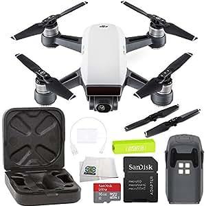 DJI Spark Portable Mini Drone Quadcopter Starters Bundle (Alpine White)