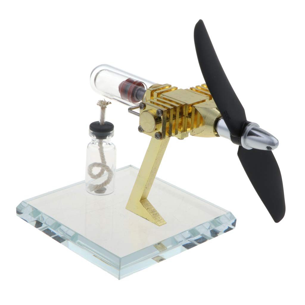 B Blesiya Propeller Rotating Stirling Engine Motor Model Steam Heat Generator Physical Model Toy Collection Creative Educational Toy