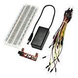 Gikfun MB102 830 Point Prototype PCB Breadboard + Power Supply + 9V Battery Holder + Jump Cable Wires for Arduino EK8459C