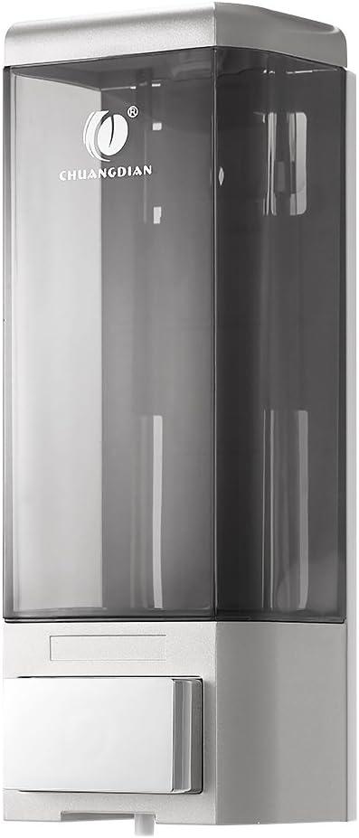 Anself CHUANGDIAN Wall Mount Manual Soap Dispenser Single Bottle 500ml (Silver)