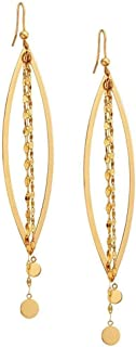 product image for Cascade Stunner Yellow Gold Chain Earrings